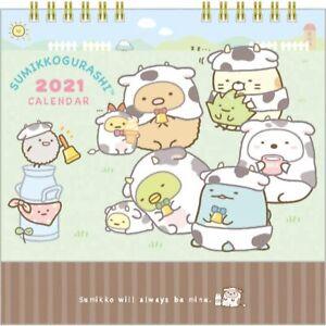 San-X Sumikko Gurashi 2021 Compact calendar Desktop CD35301 With message card