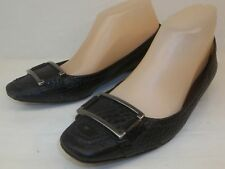 Banana Republic Wos Shoes US 8.5 Black Pebbled Leather Slip-on Casual Flats 143