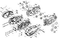 JAWA 550 + JAWA 555 - 50ccm - >20 Motor Schrauben Set 54< Normteile Satz NEU