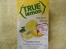4 True LEMON Crystallized Lemon For Water & Tea recipes (128 packets)