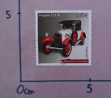 ANDORRE VOITURES PEUGEOT 172 NEUF 2017 ANDORRA MNH ANCIENTS CARS COCHES