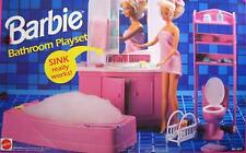 Barbie Bathroom Playset w Working Sink