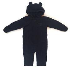 OLD NAVY 12-18 Months Baby BOY Bunting, Fleece, NAVY BLUE, W/Zipper & Hoodie