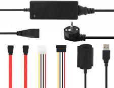 Cable IDE Sata -2.5 3.5mm USB Conversor Disco Duro Alimentador Transformador