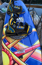 Connelly CWB Wakeboard 133cm Binding Tow Blue Yellow Water Sports Skiing Boat