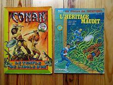 2 ANCIENNES BDS ARTIMA LUG CONAN + L'HERMITAGE MAUDIT STAN LEE KIRBY ANNEES 70
