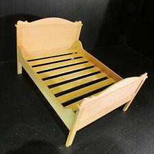 Artisan made in legno letto matrimoniale (facoltativo) Materasso Doll House in Miniatura ~ 1/12