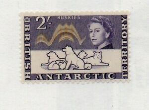 A very nice unused British Antarctic Territory QE2 2/- issue