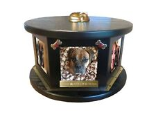 Dog Pet Urn 6 Photo Rotating FREE Engraving Up to 100 Lbs - NEW Design!