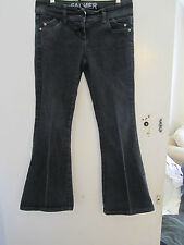 Low Rise Black Flared Falmer Jeans in Size 10 - L30