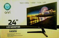 ONN 24in. LED Slim 1920x1080p HDMI VGA Monitor FREE FAST SHIPPING!!