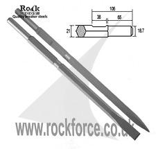 Set of 2 breaker steels Point & Chisel for KANGO K900 / 950 - Extra Long 600mm