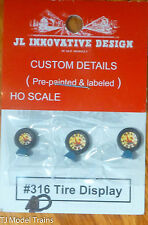 """JL Innovative Design HO #316D """"Kelly Tires"""" Tire Display (3 in Package)"""