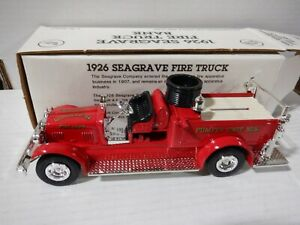 Ertl 1926 Seagrave Fire Truck Bank 1:30 Scale 052821DMT2
