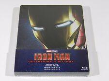 Iron Man Trilogy Blu-ray Steelbook [IMPORT] EMBOSSED OOS/OOP RGN FREE ENG AUDIO