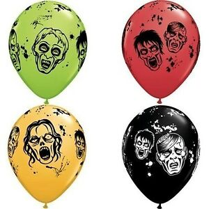 "Zombie Qualatex 11"" Latex Balloons x 10"