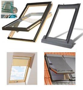 Dachfenster mit Eindeckrahmen + Rollo Schwingfenster Optilight B Fakro Konzern