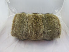 "Vintage BROWN/TAN FUR MUFF? 14.5"" LONG"