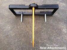 """Skid Steer Bale Spear Attachment WD w/49"""" Spear Quick Attach Bucket Loader 3000#"""