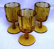 Water Goblets (set of 3) - Golden Sunset Panel Grape by Westmoreland Glass Co.