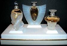 Authentic LALIQUE SYLPHIDE SIRENES ELFES Mini Miniature Perfume Bottle Set NIB!