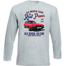 Vintage American Car Ford Capri MK3-Nuevo Algodón Camiseta