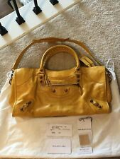 PRELOVED AUTHENTIC BALENCIAGA PART TIME MANGO YELLOW ROSE GOLD HW NEW FOR $1400