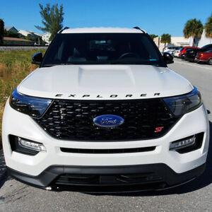 NEW 2020 FORD Explorer Sport Hood Badge Lettering Gloss Black - Ford Licensed