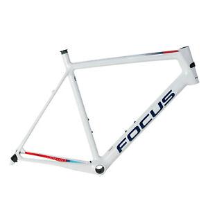 "Rahmen Rennrad 28"" Zoll FOCUS IZALCO Race 9.7 Carbon weiß XL=60cm DIY NEU"