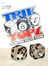 Trick Top Schrader Valve Caps / Clear Dice NEW!