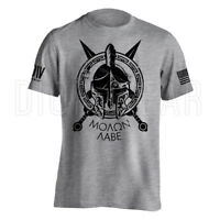 Molon Labe Spartan Men's American Flag Military Soft Lightweight T-shirt