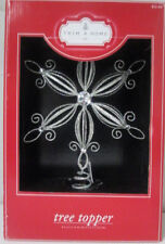 New Trim A Home Shimmering Silver Glittery Star Tree Topper Shabby Chic Decor