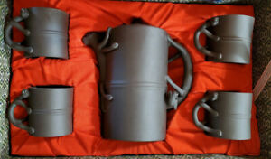Yixing Zisha Dragon Clay Teapot + Tea Cups Gift Set China Chinese