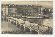 AK Geneve, Rade et Pont du Mont-Blanc, Hotel de Russie, 1910