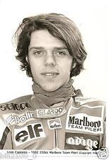 photo originale . moto . Loris Capirossi . 1992 .Marlboro Team Pileri . 250cc