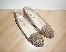 NEW Schuh womens SMOKING HOT beige suede studded slip on shoes size 6