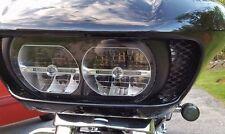 Road Glide vent grille, black powder coat, custom fit, Harley Davidson