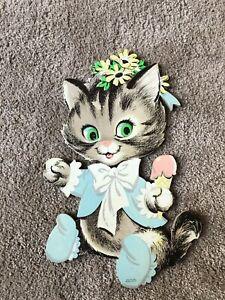 Vintage 1993 Kittens Decorative Wall Plate Flower Fanciers by Higgens Bond Cute Kitten D\u00e9cor