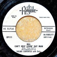 SHOW BOAT EP: Jazz singer THELMA CARPENTER Bill/Can't Help Lovin' Dat Man ROYALE