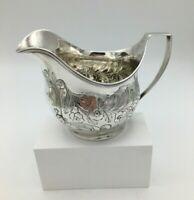Fine Quality George III Period Solid Silver Cream Jug London 1805
