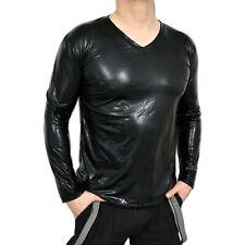 Soft Patent Shirt, Long Sleeve Top L Or XL Men's Top, Wetlook Shirt