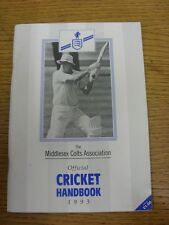 1993 Cricket: Middlesex colts Association Official Cricket Handbook. Thanks for