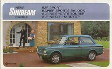 Sunbeam Range Imp Sport, Rapier, Alpine Sports & GT Original  Brochure No. 9307H