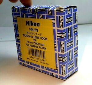 Nikon HN-29 Hood Shade for 77mm Circular Polarizer Filter Original Genuine