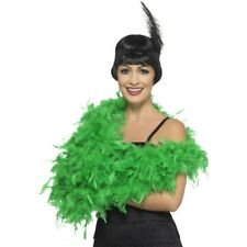 Deluxe Green Feather Boa 20's 1920s Costume Party Fancy Dress Burlesque Flapper