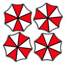 "Umbrella Corporation 2"" round logo Resident Evil Vinyl Decal Sticker FOUR"