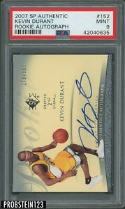 2007-08 SP Authentic Kevin Durant RC Rookie AUTO 273/399 Supersonics PSA 9 MINT