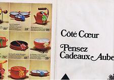 PUBLICITE ADVERTISING 074 1973 AUBECQ spécialiste Ménage (2 pages)