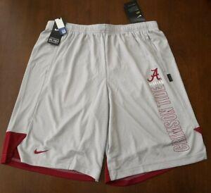 Nike University Of Alabama Crimson Tide On-Field Shorts Gray CN7108-012 Men's L