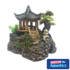 Classic Aquatics Pagoda House & Plants Aquarium Fish Tank Ornament Decoration